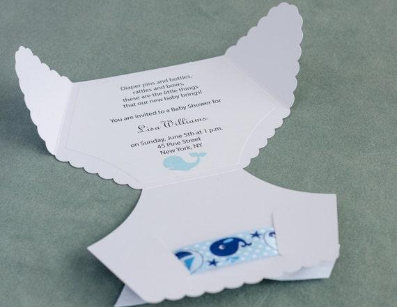 Einladung Zur Babyparty Windel, Windel Einladung, Boy, Blau, Custom,  Umschlag