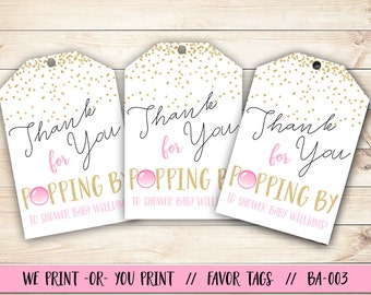 Ready to Pop Baby Shower Favor Tag, Ready to Pop Baby Shower, Ready to Pop Baby Shower Gift Tag, Baby Shower Tag, Baby Shower Favor Tag