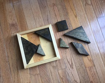 7-Piece Wooden Tangram Puzzle