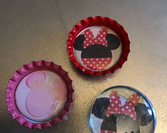 Set of 3 Minnie Mouse refrigerator magnets