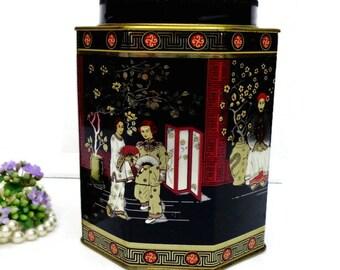 Vintage tin box /Tea Metal Tin Box/ Vintage Tea Box/ Collectible tin box/ Vintage  empty tin box/ Decorative Tin