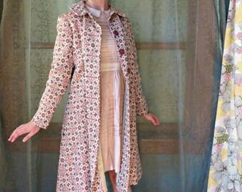 1960s Tapestry Swing Coat Vintage Pattern Coat 60s Swing Coat Silk Blend Coat Vintage Outerwear Mad Men 1960s Tapestry Coat Princess Coat
