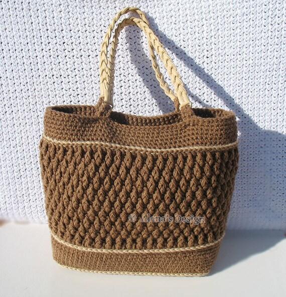 Crochet Pattern 176 Crochet Tote Bag Pattern Shoulder Bag Crochet ...