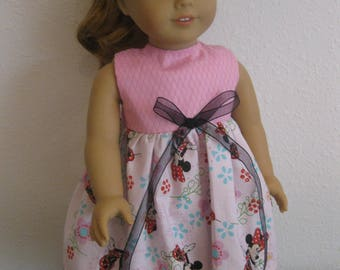 Pink Minny Mouse dress 18 inch doll