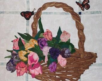 Basket of Tulips Applique Block