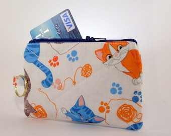 Cat Coin Purse, Cat Wallet, Cat Lovers Gift, Cat Zipper Pouch, Gift for Teen, Kitty Cat, Bags and Purses, Gift for Her, Cat clutch