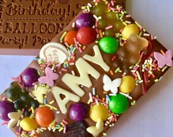 Chocolate birthday bar