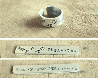Commemorative Reminder Ring Personal ring