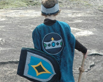 Knight Shield TEAL and NAVY - Halloween Costume - Halloween Costume - Kid Costume