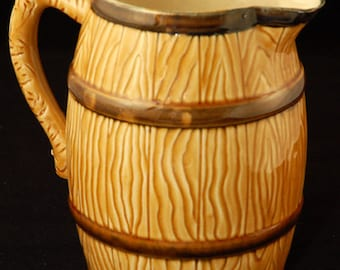 Vintage Pitcher and Mugs in Faux Bois Made in Japan
