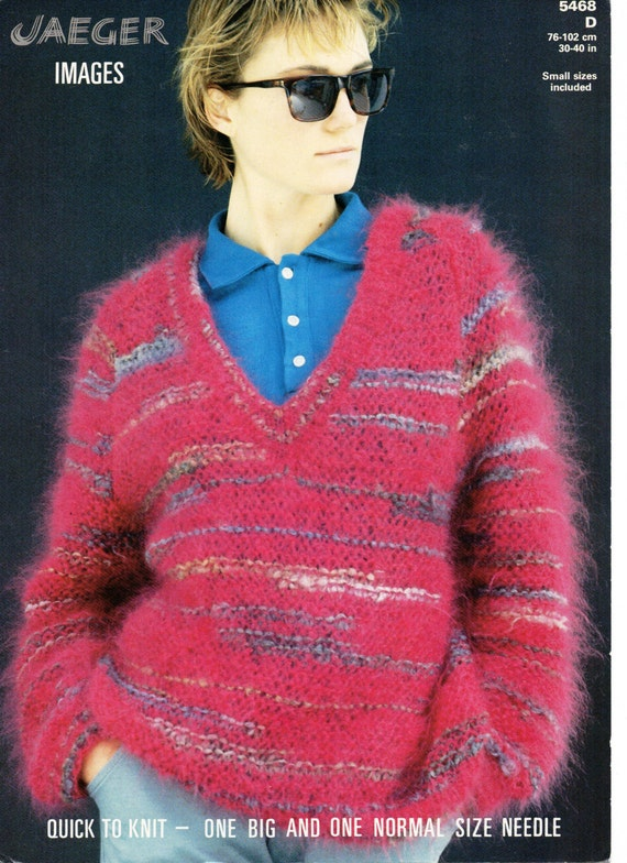 Womens Mohair Sweater Knitting Pattern Pdf Ladies Mohair Jumper