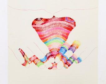 Rainbow V by Marisol Escobar, Lithograph, 1969