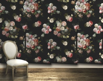 Josie Floral Wallpaper Removable or PrePasted