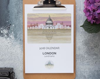 SALE 2018 Calendar- London Landmarks