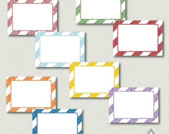 Rainbow Glitter Labels, Buffet Cards, Editable Labels, printable labels, Editable PDF, printable rainbow Label, glitter rainbow party