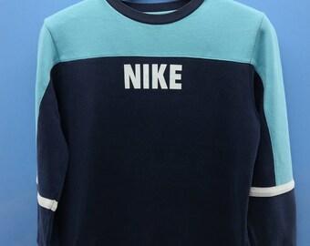 Vintage Nike Big Spell Out Logo Sport Sweatshirt Pull Over Crewneck Street Wear Size L
