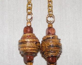 Fabric bead earrings; beaded jewelry