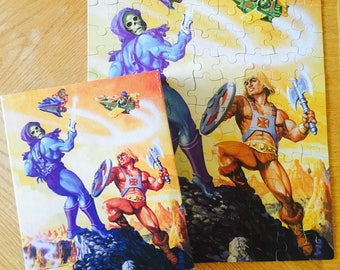 Vintage Masters of the Universe 1983 He Man 100 piece jigsaw puzzle Skeletor