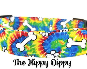 Tie Dye Dog Collar - The Hippy Dippy