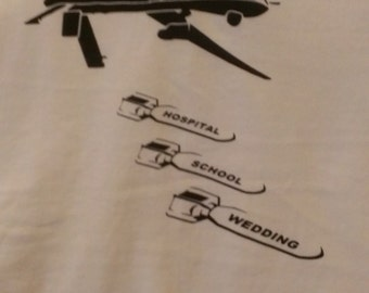 Drone Bombs Screen Print Hoodie Sizes S-5XL