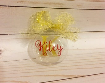 Floating Name Ornament, Floating Christmas Ornament, Personalized Ornament, Custom Name Ornaments