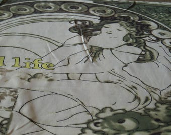 1 rapport.... Exclusive chiffon with Alfons Mucha motif