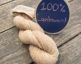 Natural Lambswool Lace Weight Yarn. Dyeable.  Recycled, Sweater Qualities- 2000+ yards total, nearly 8 ozs!  Knit, crochet, weave, and rugs