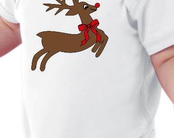 Rudolph The Red Nose Reindeer Baby Onesie Bodysuit