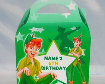 Peter Pan Personalised Children's Party Box Gift Bag Favour