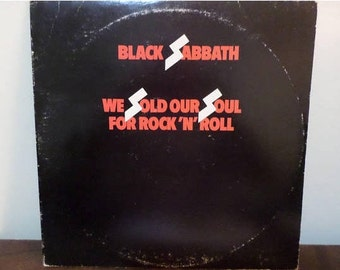 Vintage 1976 Vinyl LP Record Black Sabbath We Sold Our Soul for Rock N Roll Excellent Condition 13366
