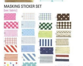 Masking tape stickers - fabric colors - great for DIY and packaging