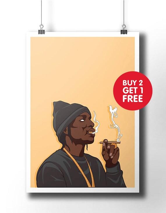 Asap Rocky poster / wall art / wall decor / rap poster / hip