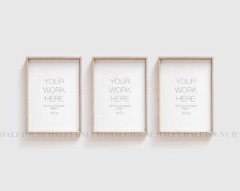 MOCKUP,Mockup Frame,Set of 3 Mockup,Styled Frame Mockup,Frame Mockup,Wooden Frame Mockup,Rustic Frame Mockup,Digital Mockup,A3 A4 Frame Mock
