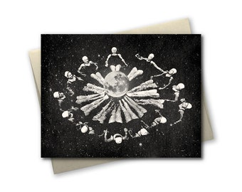 Synchronized Space Ladies - Greeting Card - Blank Inside