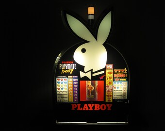 Vintage  Playboy Slot Machine Topper