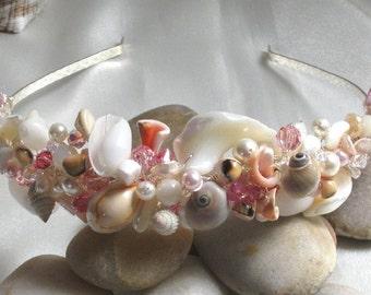 Handmade Sea Shell Beach Wedding Tiara