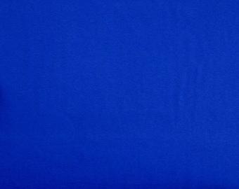 ROYAL blue cotton JERSEY fabric