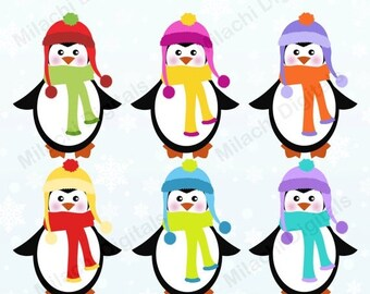 penguin clipart etsy rh etsy com winter holiday clipart free winter holiday clip art borders
