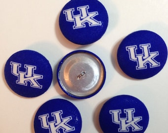 University of Kentucky fabric covered button