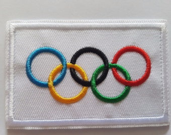 Olympic Games and Winter Olympics 5 rings Iron On Patch Sew On Transfer