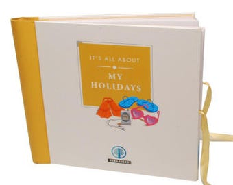 Sale - Perfect Holiday / Vacation Gift -  Seranders Luxury Kids travel journal, Interactive, keepsake. It's All About My Holidays