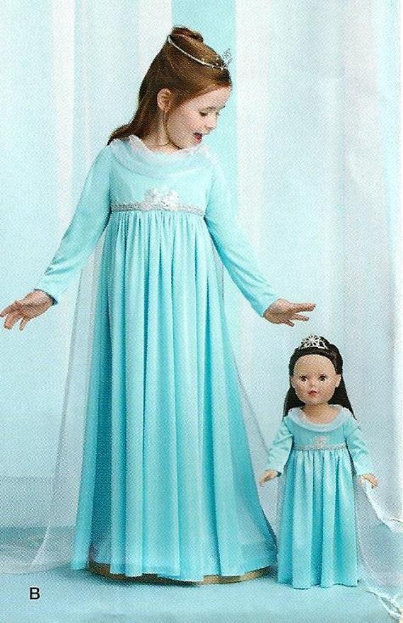 GEFRORENE Schnittmuster / machen Elsa-Kleid für Mädchen und