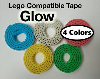 For LEGO® Bricks - GLOW in the DARK Compatible Adhesive Baseplate Tape