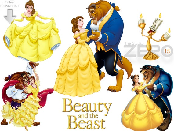 15 disney beauty and the beast clipart 15 png 15 jpeg 15 rh etsy com beauty and the beast clipart images beauty and the beast clip art free