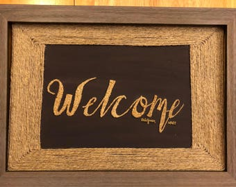 Baby's Breath Welcome Sign