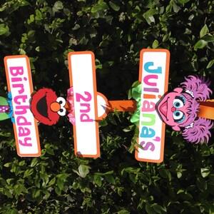 Elmo/Abby Cadabby Sesame Street Birthday Party Sign & Abby door sign | Etsy
