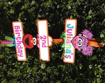 Elmo/Abby Cadabby Sesame Street Birthday Party Sign