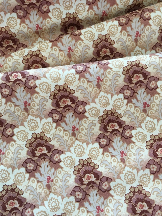 Penny Rose Fabrics Sue Daley Romancing the Past C4270 Mahogany BTY (by the yard)