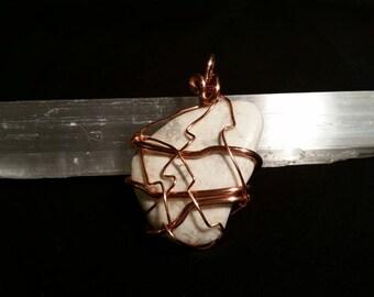 White howlite pendant