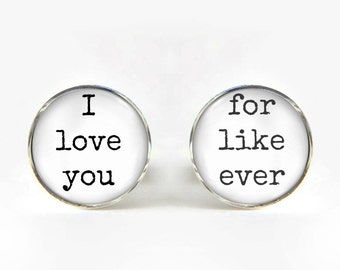 Groom Wedding Cufflinks silver 18mm cuff links Gifts for him